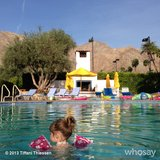 Harper Smith was the first one in the pool one morning. Source: Instagram user tathiessen