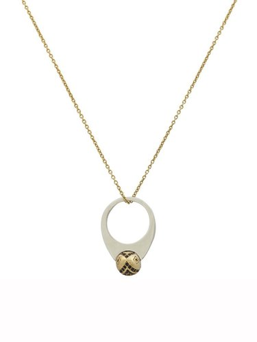 House of Harlow 1960 Jewelry Engraved Orb Pendant Necklace
