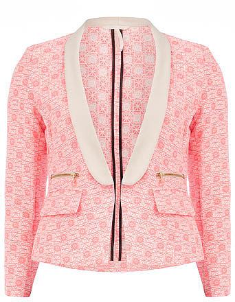 Pink and cream neon blazer
