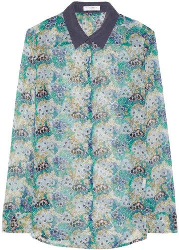 Equipment Earl floral-print silk-chiffon shirt