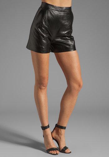 Milly Laser Cut Leather Kelsey Short