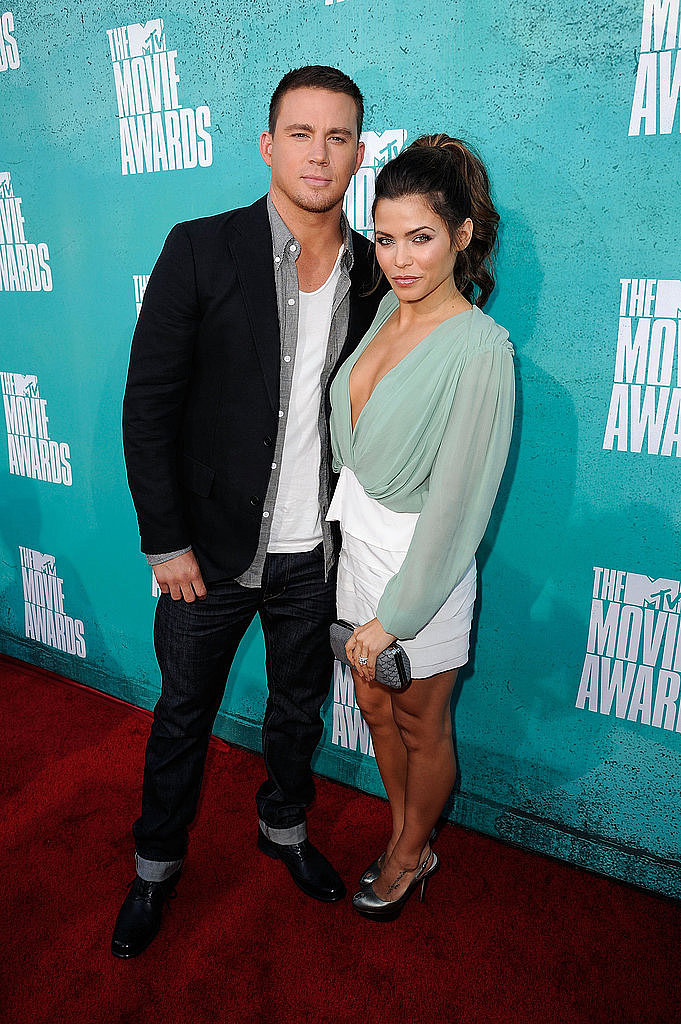 Channing Tatum and wife Jenna Dewan walked the MTV Movie Awards red carpet together in 2012.