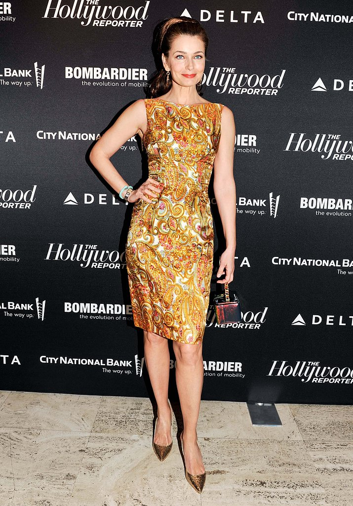 Paulina Porizkova at The Hollywood Reporter's 35 Most Powerful People in Media soiree. Photo: Elle Jota/BFAnyc.com