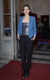 Marion Cotillard wore Fall 2013 Christian Dior at the Hotel de la Marine in Paris.