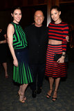 Doutzen Kroes (wearing Spring 2013 Michael Kors), Michael Kors, and Hilary Rhoda (wearing Spring 2013 Michael Kors) at the United Nations World Food Programme Dinner in New York.