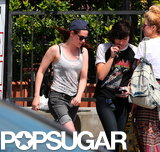 Kristen Stewart left En Sushi with a friend.