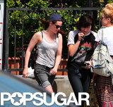 Kristen Stewart left En Sushi with a friend.