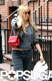 Sienna Miller Shops in Manhattan Wearing a Spring-Ready Crop Top