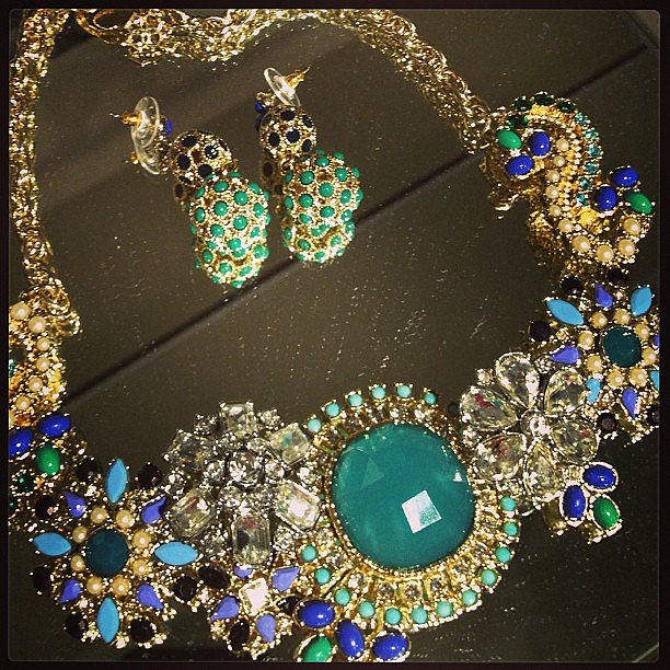 If this isn't a statement necklace, we don't know what is.