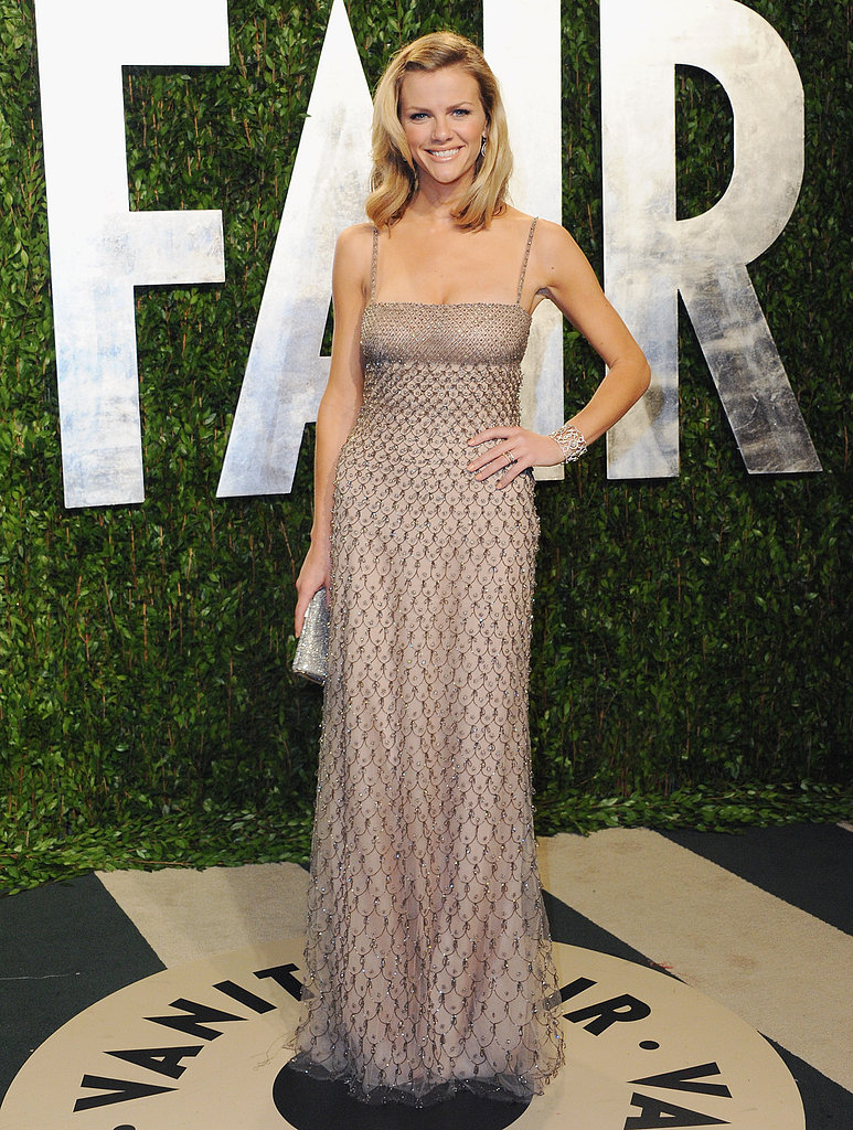 Brooklyn glowed in a shimmering Valentino gown at the 2012 Vanity Fair Oscar party.