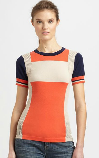 This Marc by Marc Jacobs Armstrong colorblocked sweater ($168) means staying on trend is as easy as throwing this top on with your favorite white jeans.