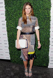 Brooklyn Decker in Snakeskin Preen Dress at 2013 Vanity Fair x Juicy Couture Party