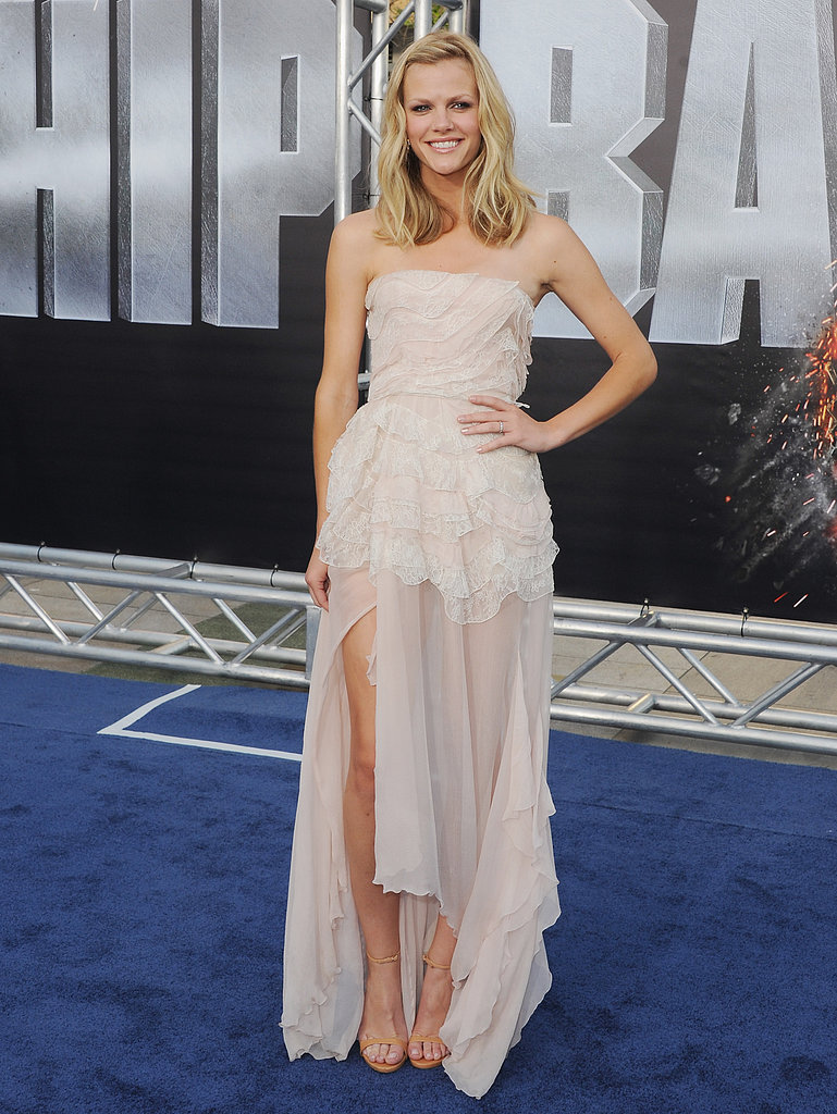 Brooklyn chose an ethereal Christian Dior gown for the LA premiere of Battleship.