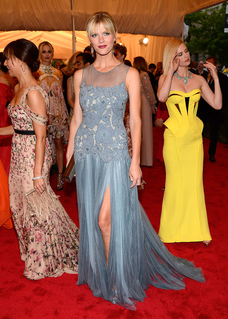 The actress took the Met Gala red carpet in a sweet and sexy Tory Burch gown in 2012.