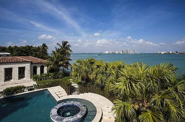 With a view like that and a large swimming pool, this house is perfect for entertaining.  Source: Coldwell Banker Real Estate