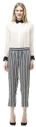 Patricia Striped Silk Pant