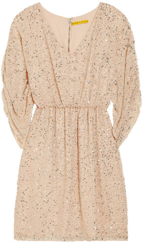Alice + Olivia Olympia sequined silk-chiffon dress