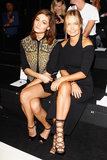 Phoebe Tonkin and Lara Bingle made a stylish pair as they sat side-by-side to take in Camilla and Marc's showing at fashion week on Monday.