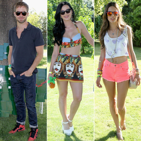 Katy Perry Sports a Bra Top to Party at Lacoste's Coachella Bash With Famous Friends