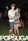 Emma Roberts cuddled up to her boyfriend, Evan Peters.