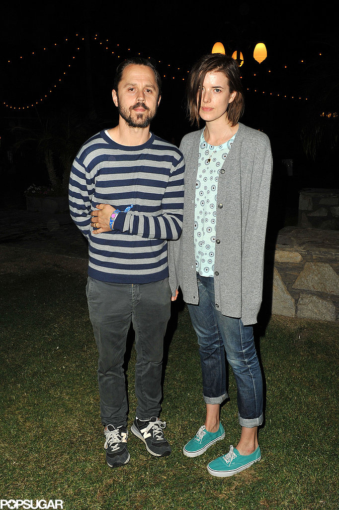 Agyness Deyn and husband Giovanni Ribisi checked out the music.