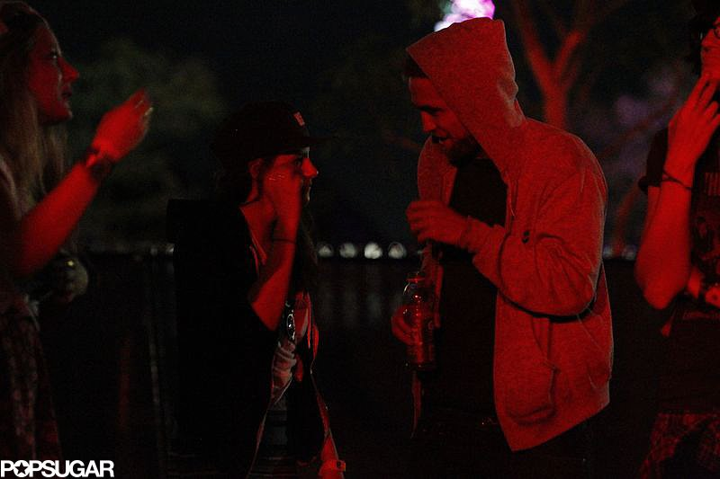 Robert Pattinson and Kristen Stewart were at Coachella 2013.