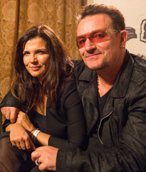Bono and his wife, Ali Hewson, attended Studio Africa's Coachella event.