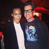 Brad Goreski was excited to meet Solange Knowles at the Diesel + Edun party. Source: Instagram user mrbradgoreski