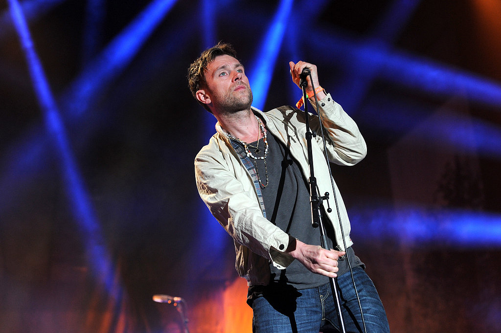 Damon Albarn from Blur performed to large crowds on Friday night.