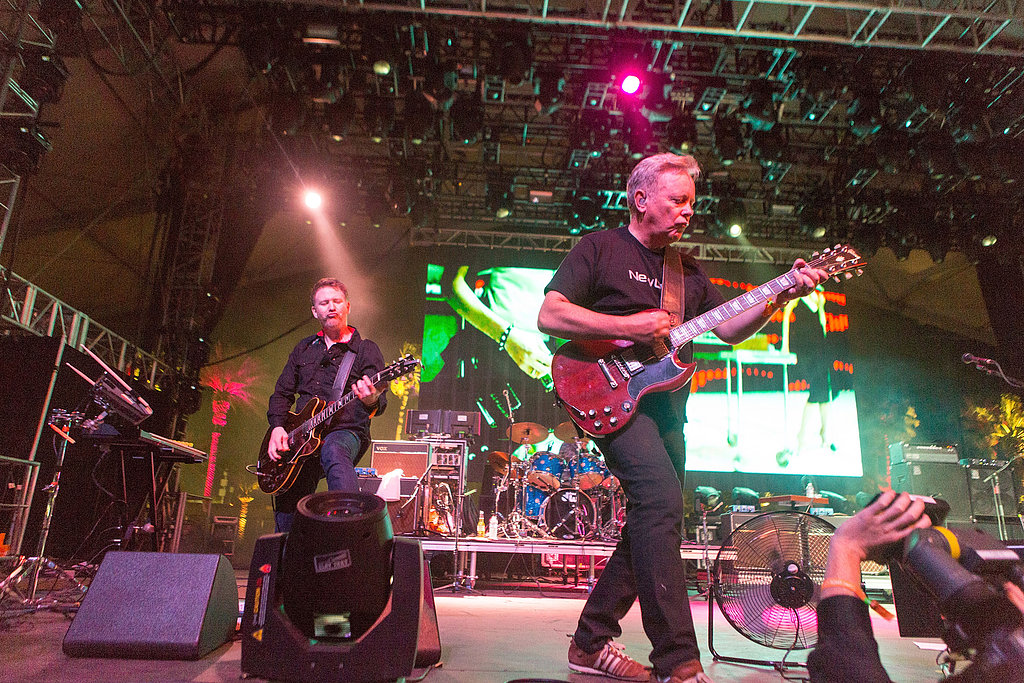 New Order's Phil Cunningham and Bernard Sumner brought their best to the stage on day two.