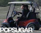 Justin Timberlake drove a golf cart.