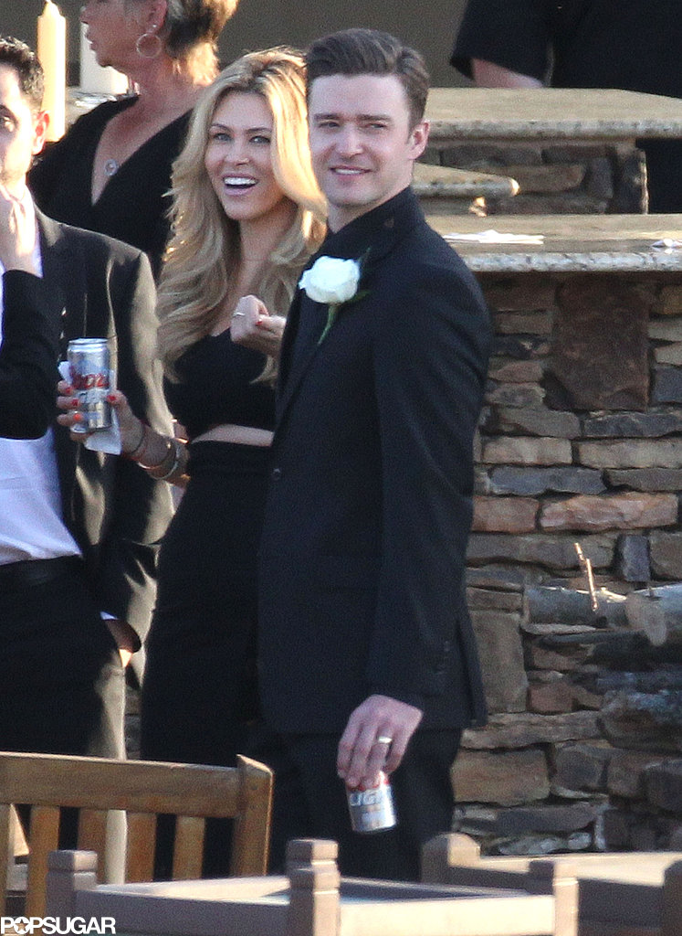 Justin Timberlake kicked back with a Coors Light to celebrate his friend's wedding in his hometown of Millington, TN.