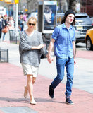 Sienna Miller and Tom Sturridge walked in Manhattan.