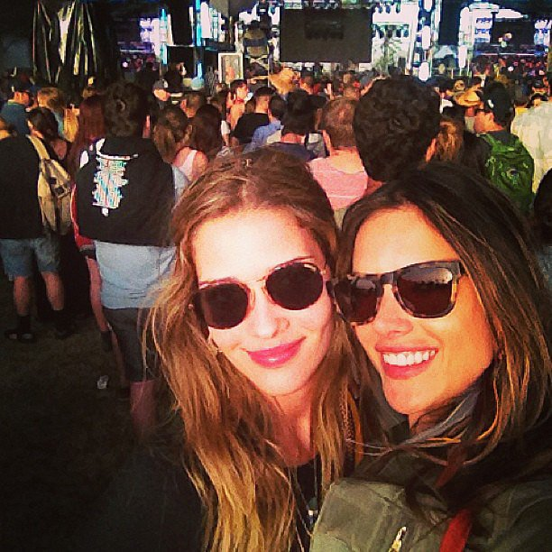 Alessandra Ambrosio shared a picture with her friend Anna Beatriz Barros on Sunday.  Source: Instagram user alecambrosio