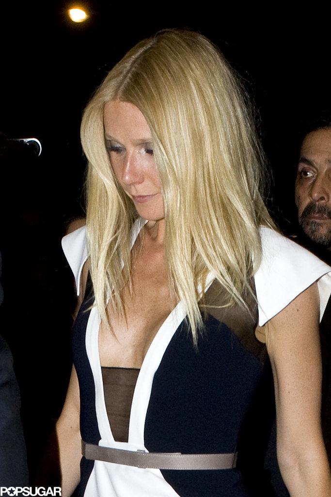 Gwyneth Paltrow arrived at her Paris hotel.