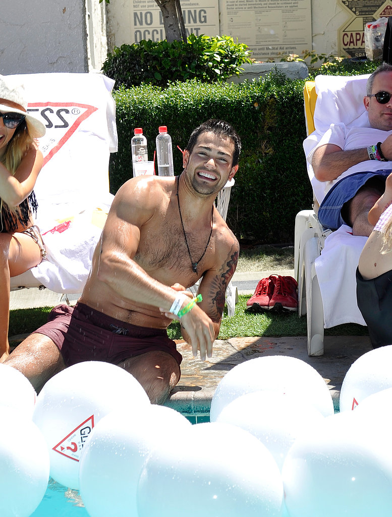 Jesse Metcalfe partied in the sun at the Guess Hotel at the Viceroy.