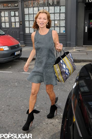 Kate Moss arrived at the SoHo Hotel in London.
