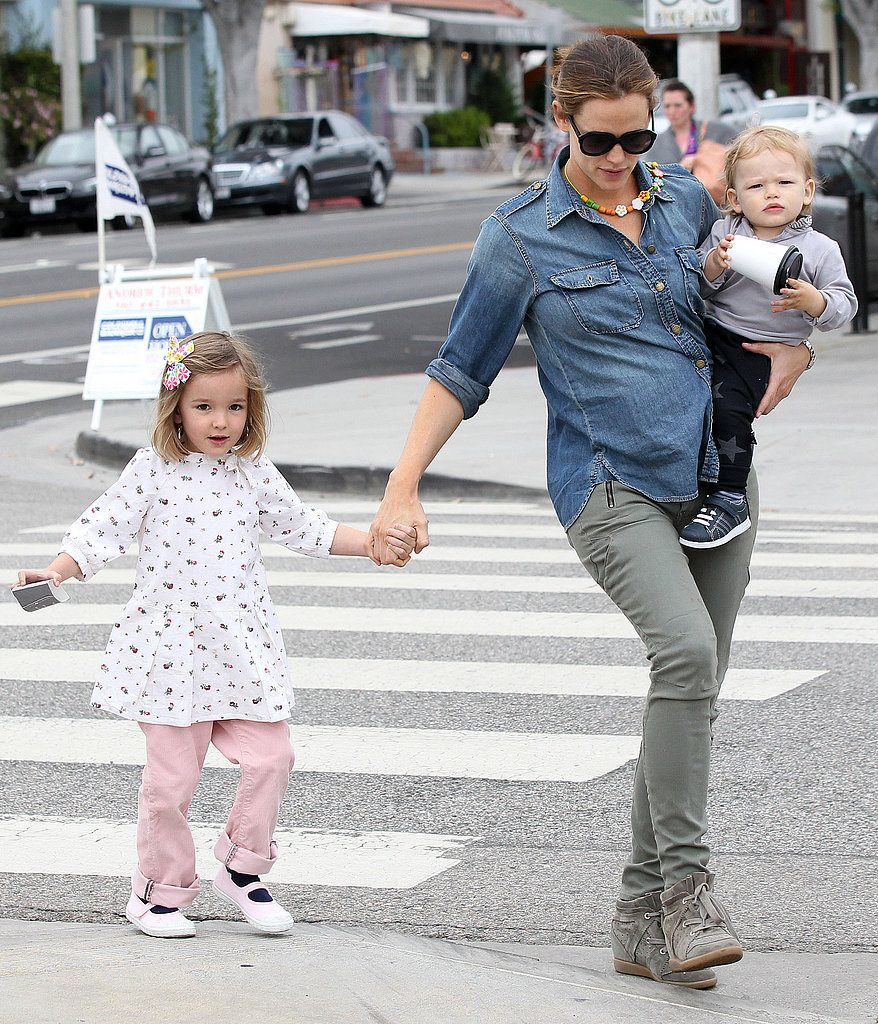 Sam Shows Off His Walking Skills With Jennifer Garner and the Girls