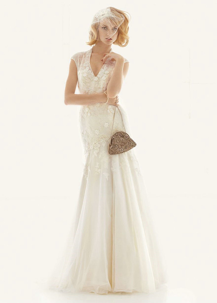 This Melissa Sweet for David's Bridal fit-and-flare lace gown ($950) has a traditional feel that's so incredibly feminine.
