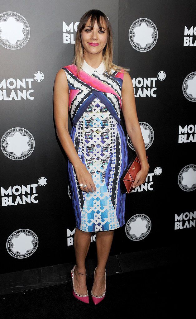 Rashida Jones looked absolutely lovely in a knee-length Peter Pilotto frock at a Montblanc event for her father in October 2012.