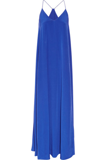 Rich, saturated royal blue makes this J.Crew Minuit silk crepe de chine maxi dress ($350) a standout — but it's the cut that makes it one you can wear to just about any wedding on your itinerary.