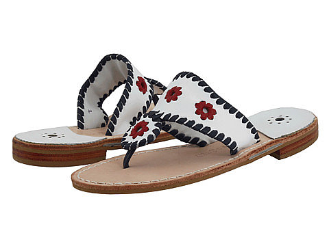 Mom's mini me takes a patriotic turn in these red, white, and blue Jack Rogers sandals ($30, originally $69).