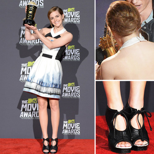 Emma Watson MTV Movie Awards Red Carpet Fashion 2013