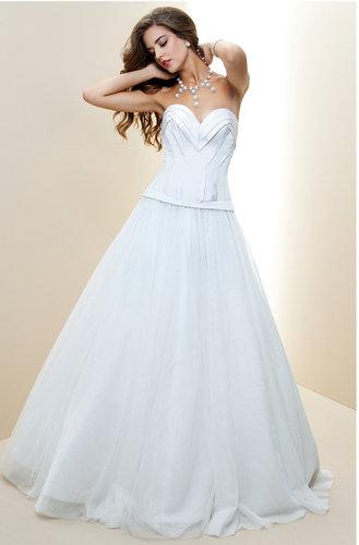 Pleated Sweetheart Silk Bridal Gown - Rami Kashou