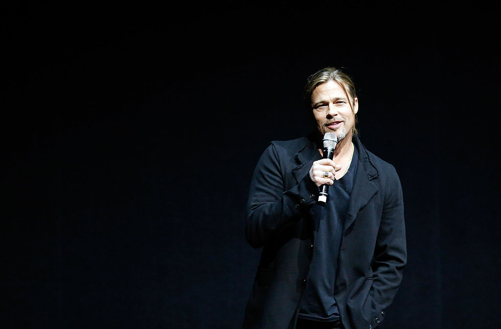 """Brad Pitt Says He Made World War Z For His """"Boys"""" at CinemaCon"""
