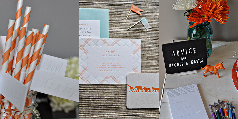 A Simply Chic Orange-and-Blue Baby Shower