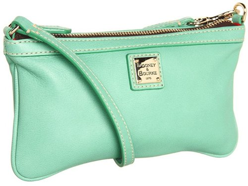 Dooney & Bourke - Lambskin Solids Large Slim Wristlet (Jade) - Bags and Luggage