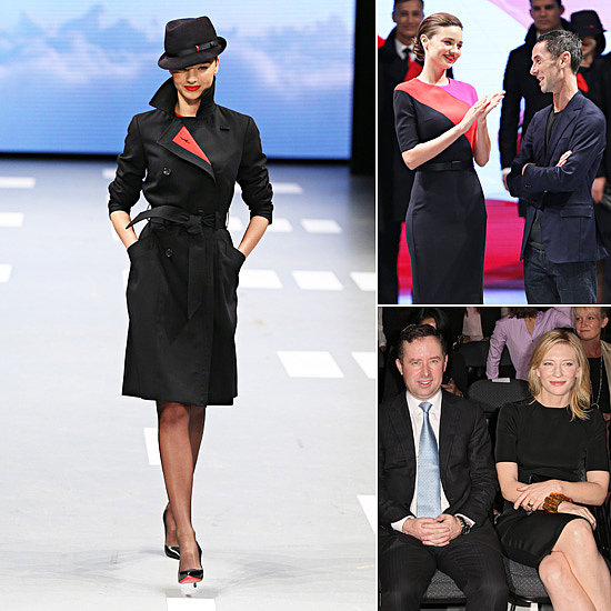 Miranda Kerr Puts Her Best Foot Forward to Model the New Qantas Uniform
