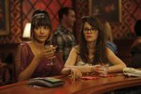 Hannah Simone and Zooey Deschanel on New Girl.