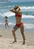 Kate Hudson wore red on the Fourth of July in Malibu in 2006.